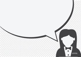 Icona della gente e gente che parla al fumetto