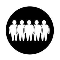 Icona di persone grasse vettore