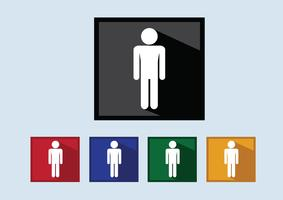 Pittogramma Icone di persone per applicazioni mobili web e segni di persone vettore