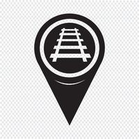 Icona della strada ferrata del puntatore della mappa