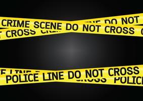 Illustrazione dei nastri del pericolo della scena del crimine