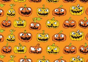 Sfondo di zucca di Halloween vettore