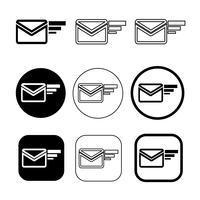 set di semplice segno e-mail icona posta simbolo