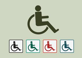 Handicap sedia a rotelle icona design