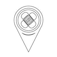 Icona del gesso del puntatore della mappa