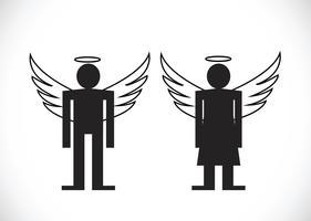 Pittogramma Angelo icona simbolo segno