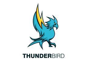 illustrazione vettoriale mascotte uccello tuono