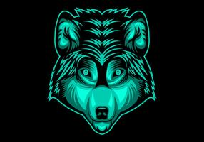 illustrazione vettoriale testa di lupo