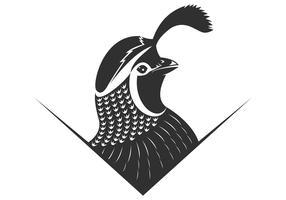 illustrazione vettoriale logo di quaglie