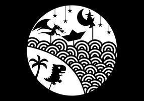 illustrazione di vettore del burattino dell'ombra