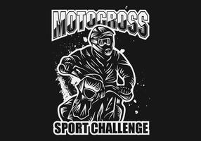 illustrazione di vettore di sfida di sport di motocross