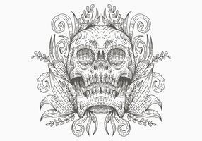illustrazione vettoriale decorazione teschio