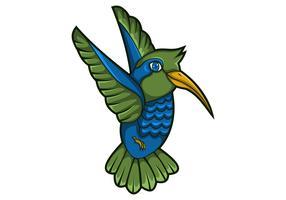 mascotte colibrì illustrazione vettoriale