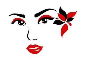 illustrazione vettoriale di signora viso