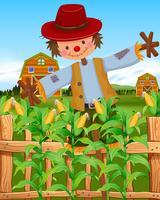 Spaventapasseri nel campo di grano