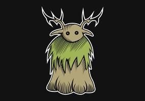 illustrazione di vettore del mostro legno characther