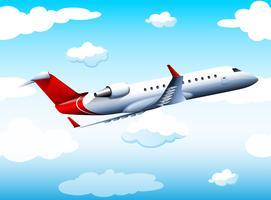 Airplay volare nel cielo di giorno vettore