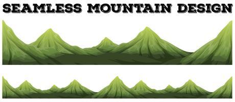 Design senza soluzione di continuità della catena montuosa