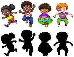 Set di caratteri per bambini paffuti