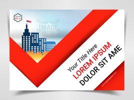 Stampa modello pronto pubblicità, formato A4 per layout presentazione marketing aziendale e design copertine. vettore