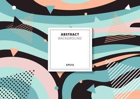 Fondo multicolore variopinto del modello geometrico astratto creativo del collage. È possibile utilizzare per stampe, poster, cartoline, brochure, banner web, ecc.