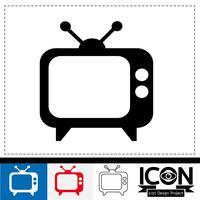 segno di simbolo dell'icona della TV