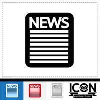 icona simbolo segno notizie vettore
