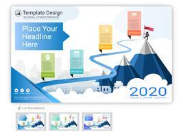 Il vettore del modello del sito Web ha messo per progettazione della pagina Web o la presentazione dell'azienda.