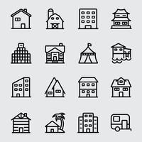 Icona della linea di alloggio