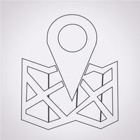 segno di simbolo dell'icona di posizione