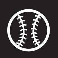 icona simbolo di baseball segno vettore