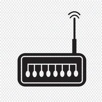 segno di simbolo dell'icona del router