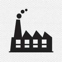 Segno di simbolo dell'icona di fabbrica vettore