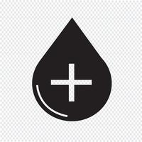 Segno di simbolo dell'icona di sangue vettore