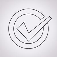 Segno di spunta icona simbolo segno vettore