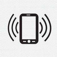 Segno di simbolo dell'icona del telefono