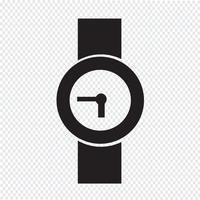 Orologio da polso icona simbolo segno vettore