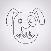 Cane icona simbolo segno vettore