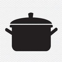 pentola icona simbolo segno vettore