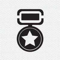 medaglia icona simbolo segno vettore