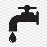 segno simbolo icona rubinetto vettore