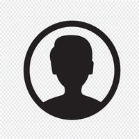 Segno simbolo icona utente vettore