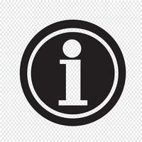 Segno simbolo icona informazioni