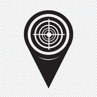 Icona destinazione puntatore mappa vettore