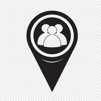 Icona della gente del puntatore della mappa