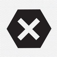 Icona simbolo di errore segno vettore