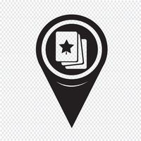 Icona di carte da gioco puntatore mappa