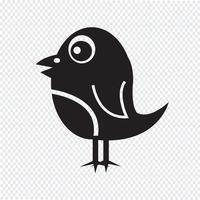 Segno di simbolo dell'icona dell'uccello vettore