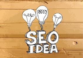 Seo Idea SEO Search Engine Optimization sull'illustrazione di struttura del cartone
