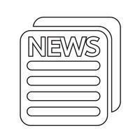 Segno di simbolo dell'icona di notizie vettore